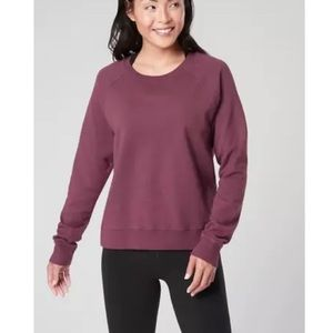 Athleta Sundown Sweatshirt Antique Burgundy XS